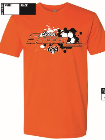 green soccer new t logo orange