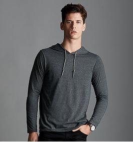 long sleeve hoodie gray