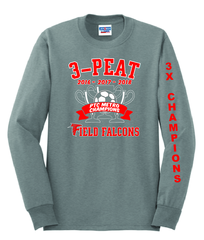 5ce7fd6053f 50 50 Long Sleeve T-Shirt (3-Peat) - Ritchie s Sporting Goods